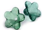 #05.18 - 1 Acrylblüte transp. Ø 12mm emerald