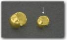 1 Stück Klappkugel ø 4 mm - 925 Silber vergoldet