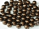 #27 25 Stck. 2-Hole Cabochon 6mm Jet Bronze