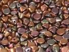 #00.00 50 Stck. Button Beads 4mm Purple iris Gold