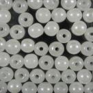 #02.01 25 Stück Perlen rund - alabaster hem. coating - Ø 6 mm