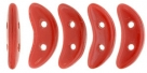 #25.01 5g Crescent-Beads 10x3 mm - Opaque Red