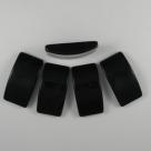 10 Stck. Acryl 2-Loch-Trägerperlen - 33x18x8mm (LxBxH) - schwarz