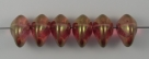 #01.02 - 25 Stück Ufo Beads 7x11mm - crystal red luster