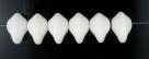 #03.00 - 25 Stück Ufo Beads 7x11mm - chalk white