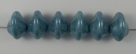 #03.01 - 25 Stück Ufo Beads 7x11mm - chalk white blue luster