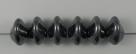 #04.01 - 25 Stück Ufo Beads 7x11mm - jet hematite