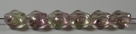 #01.01 - 25 Stück Diamond Beads 9x8mm - tr. rosé/lt green