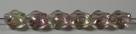 #01.01 - 25 Stück Diamond Beads 9x8mm - tr. rosé/lt green