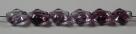 #01.02 - 25 Stück Diamond Beads 9x8mm - tr. lila/fuchsia