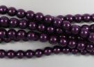 #99.48 1 Strang - 4,0 mm Glaswachsperlen - purple
