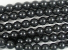 #44.0 1 Strang - 6,0 mm Glaswachsperlen - charcoal