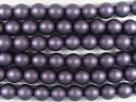 #46.0 1 Strang - 6,0 mm Glaswachsperlen - deep lilac satin