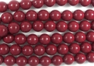#48.0 1 Strang - 6,0 mm Glasperlen - cranberry paint coating