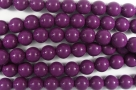 #49.0 1 Strang - 6,0 mm Glasperlen - eggplant paint coating