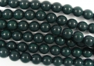 #52.0 1 Strang - 6,0 mm Glasperlen - dark green paint coating