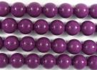 #22.0 1 Strang - 8,0 mm Glasperlen - eggplant/paint coating
