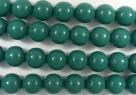 #23.0 1 Strang - 8,0 mm Glasperlen - green jade/paint coating