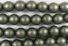 #26.0 1 Strang - 8,0 mm Glaswachsperlen - russian green satin