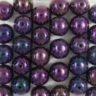#27a 25 Stück Perlen rund - Ø 8mm jet purple iris