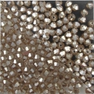 #03.3 25 Stück - 3,0 mm Crystal Bicone Lt Smoky Topaz hematite l