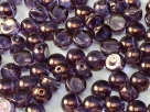 #31 25 Stck. 2-Hole Cabochon 6mm Crystal Lila Vega Luster