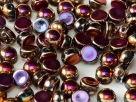 #32 25 Stck. 2-Hole Cabochon 6mm Crystal Full Sliperit