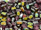 #1.0 50 Stück Rice Beads 6*4mm Amethyst Vitrail