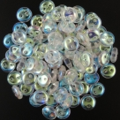 #60.00 - 50 Stück Two-Hole Lentils 6mm - Crystal AB