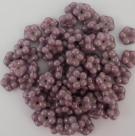 #02.03 50 Stück Blüten 5 mm - alabaster lila vega