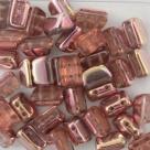 #01.00 - 25 Stück 2H-Roofy Bead 5x8 mm - crystal capri gold