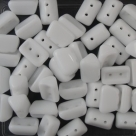 #02.00 - 25 Stück 2H-Roofy Bead 5x8 mm - chalk white