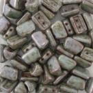 #02.01 - 25 Stück 2H-Roofy Bead 5x8 mm - chalk white lazure blue