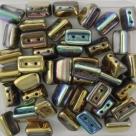 #02.04 - 25 Stück 2H-Roofy Bead 5x8 mm - chalk white amber vitra