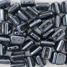 #03.02 - 25 Stück 2H-Roofy Bead 5x8 mm - jet hematite