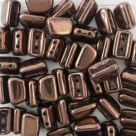 #03.03 - 25 Stück 2H-Roofy Bead 5x8 mm - jet copper