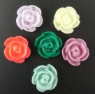 5 Stück Resin Rose Beads ca. 12x8 mm - Mix