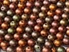 #36.00 - 50 Stck. Perlen rund Ø 3 mm - Purple Iris Gold