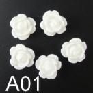 5 Stück Resin Rose Beads ca. 9x7 mm - verschiedene Farben