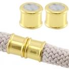 Magnet-Endkappen Bamboo - 19x12 mm Gold Farben