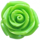 1 Stück Resin Rose Beads ca. 11,0 mm - bright green