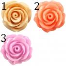 1 Stück Resin Rose Beads ca. 22 mm - verschiedene Farben