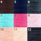 1 Meter Wachskordel Ø 1,0 mm - verschiedene Farbstellungen