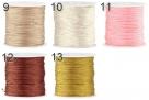 1 m geflochtene Schnur - � 0,8 mm - verschiedene Farbstellungen