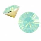 #13 - 2 Stück Chaton 8 mm (SS39) - crysolite green opal