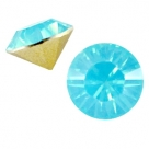 #17 - 2 Stück Chaton 8 mm (SS39) - aqua blue opal