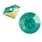 #12 - 2 Stück Chaton 8 mm (SS39) - turmaline green opal