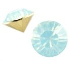 #15.01 - 2 St�ck Chaton 6,5 mm (SS29) - lt blue turquoise opal