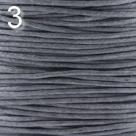 1 Meter Wachskordel Ø 0,55 mm - grau