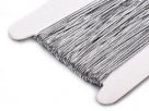 0,5 m Gummiband Stärke 1 mm - silber